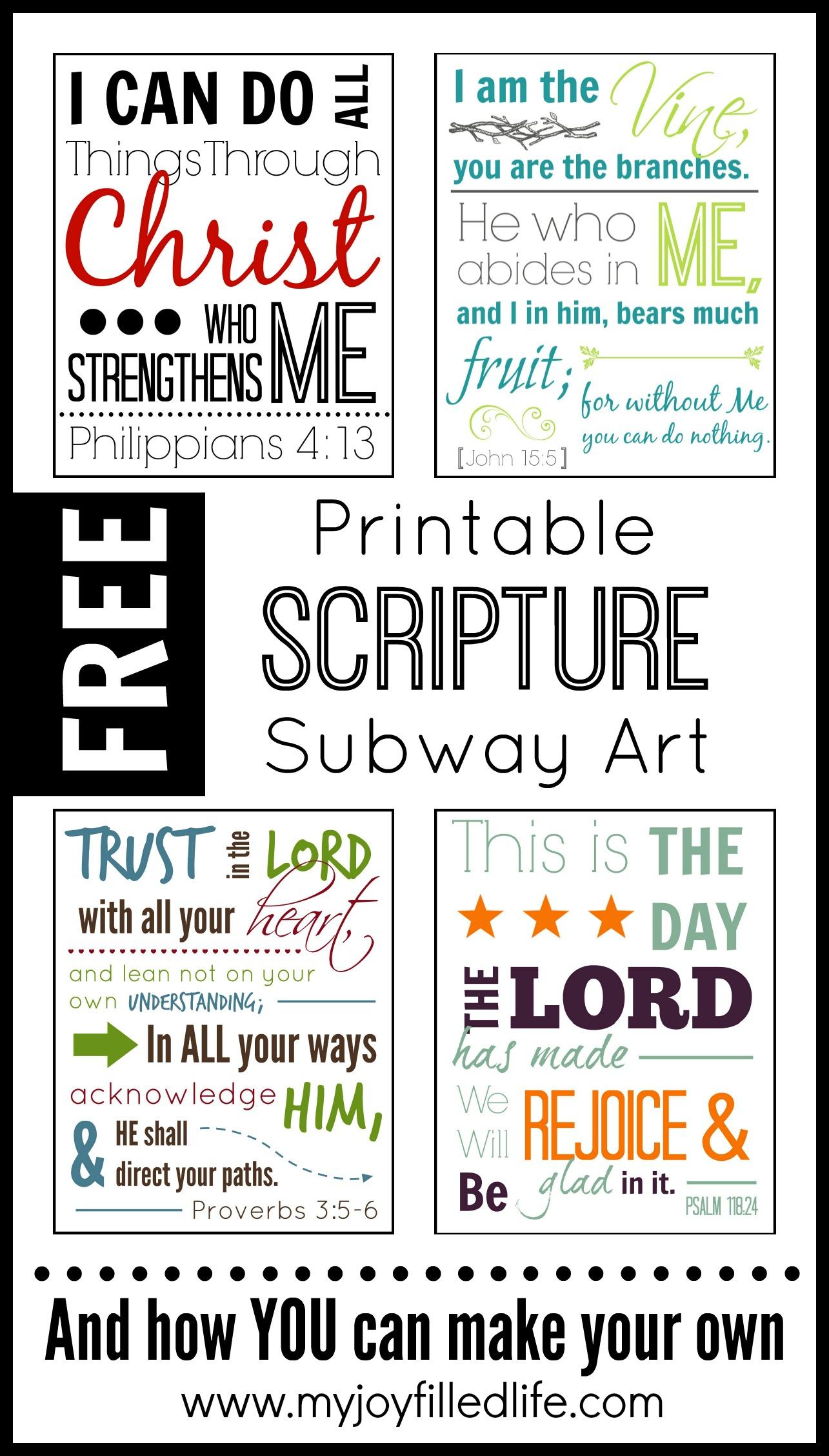 Printable Scripture Subway Art