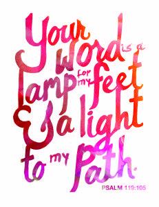 Free Printable Scripture Word Art Psalm 119 105