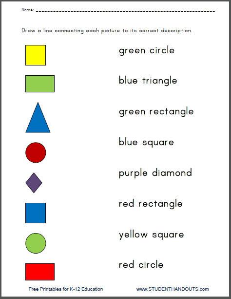 Free Printable Color Worksheets For Kindergarten   Coloring Pages