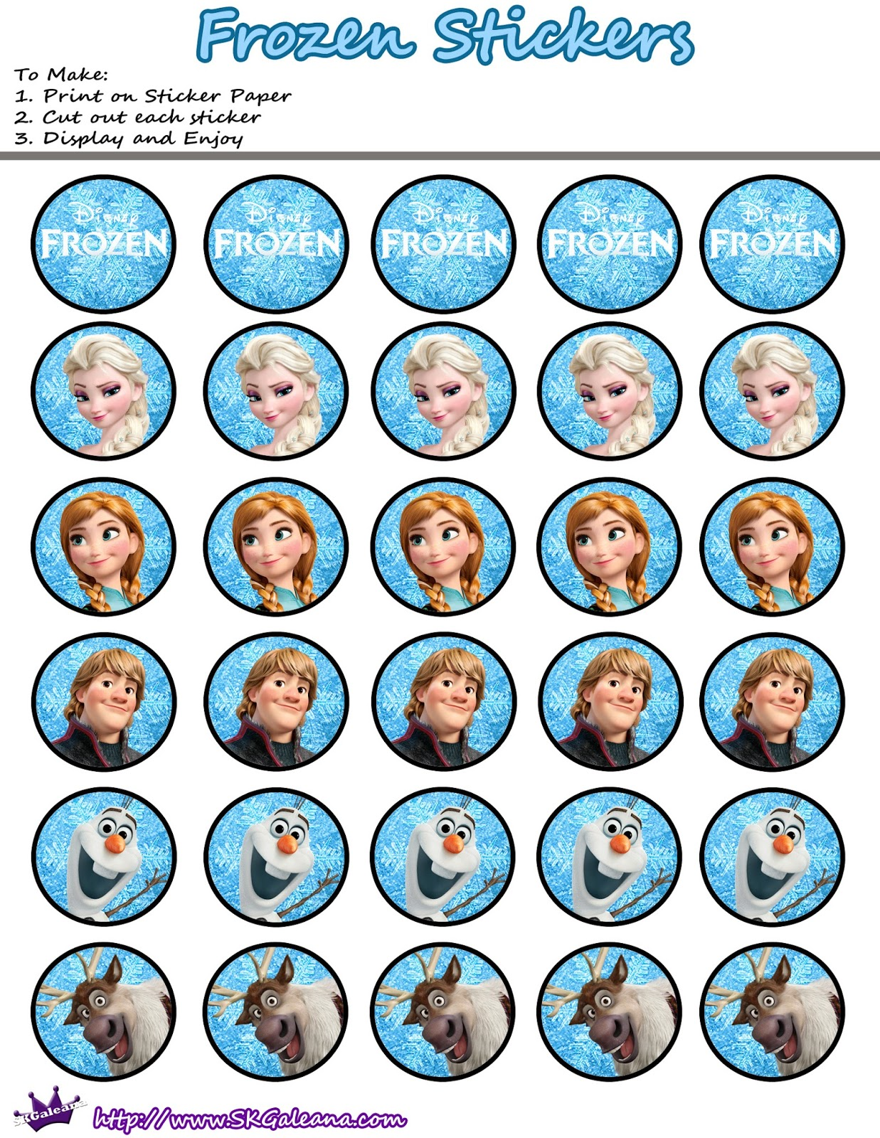 7 Images of Printable Stickers Frozen