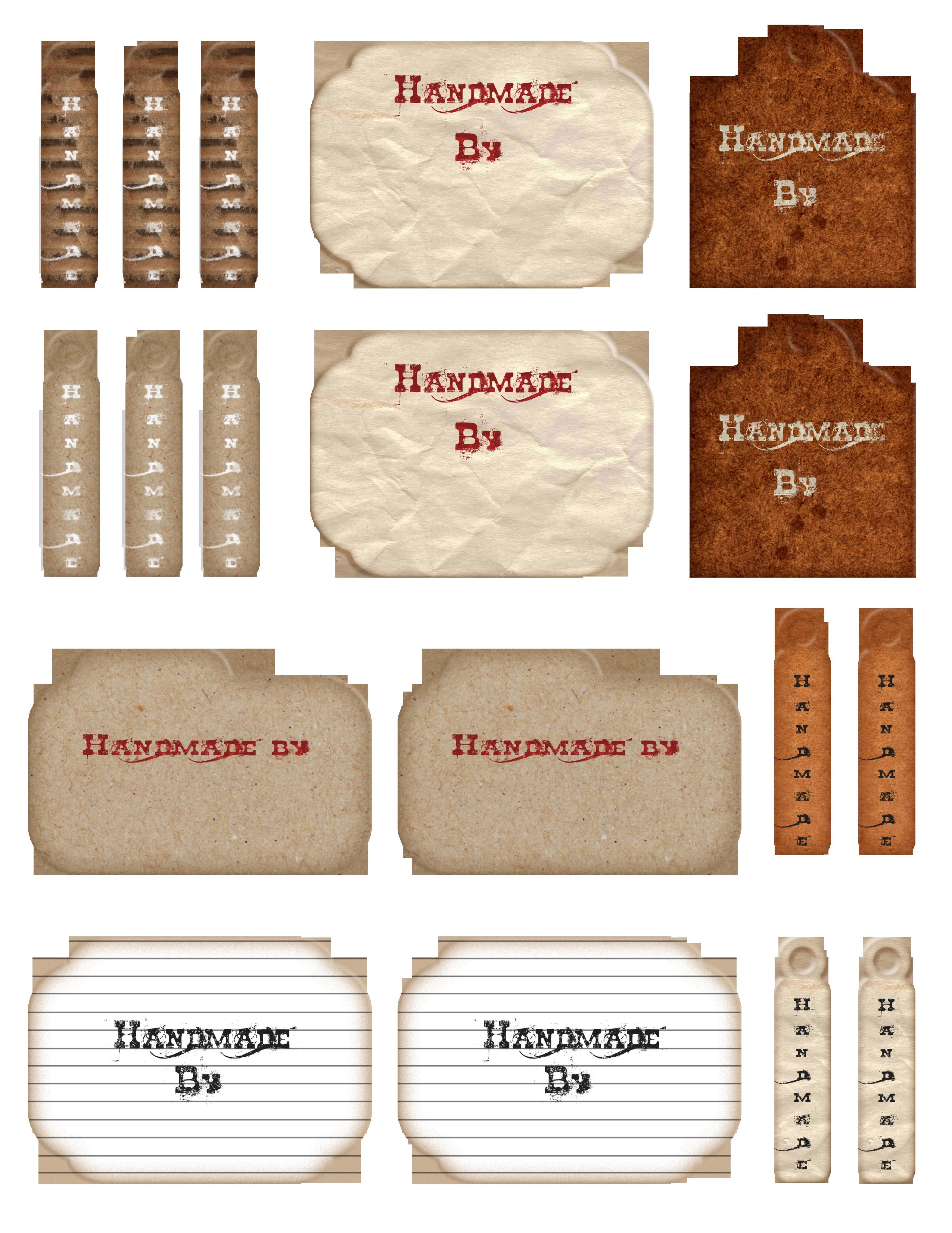 7 Images of Free Printable Handmade Tags