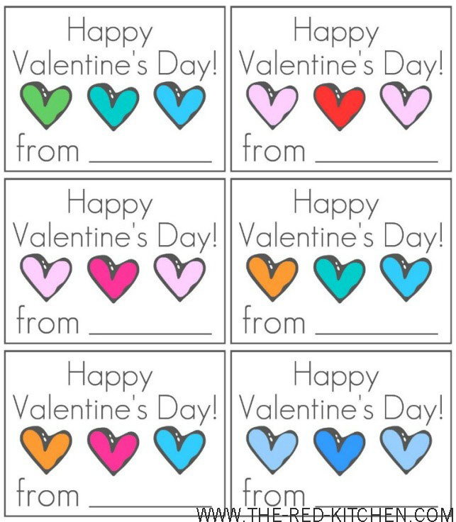 Free Printable Valentine Day Cards to Color