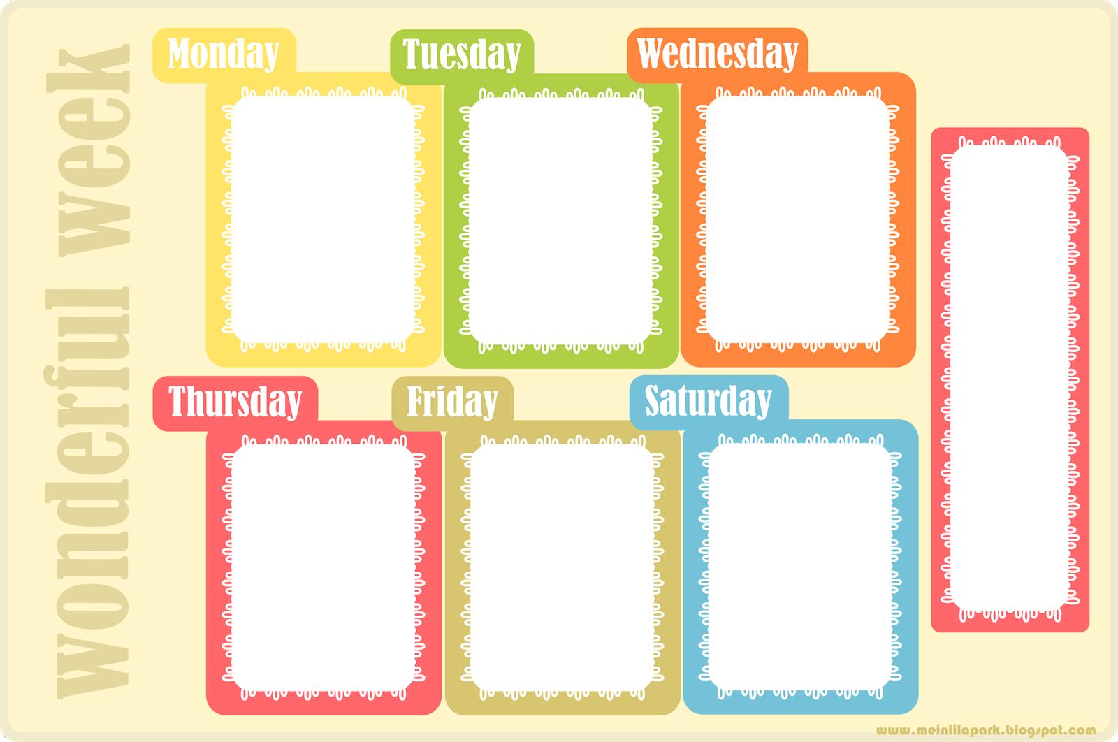 9 Images of Cute Printable Weekly Homework Planner