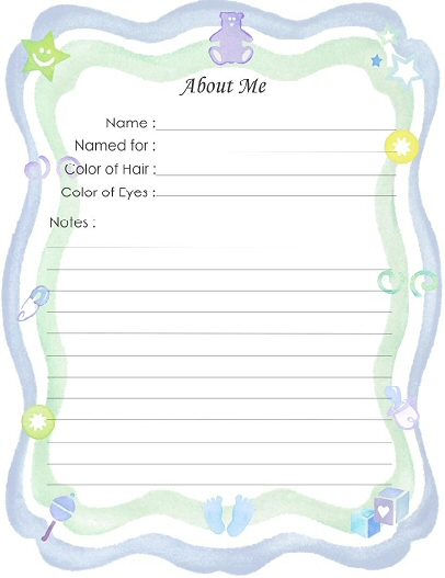 9 Images of Printable Baby Book Pages Templates