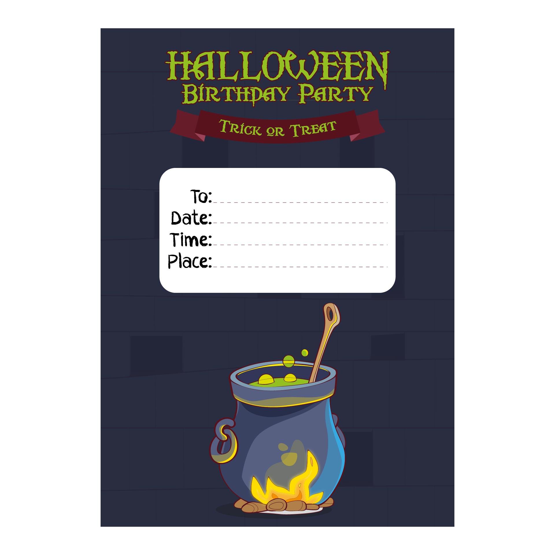 Halloween Birthday Invitations Printable