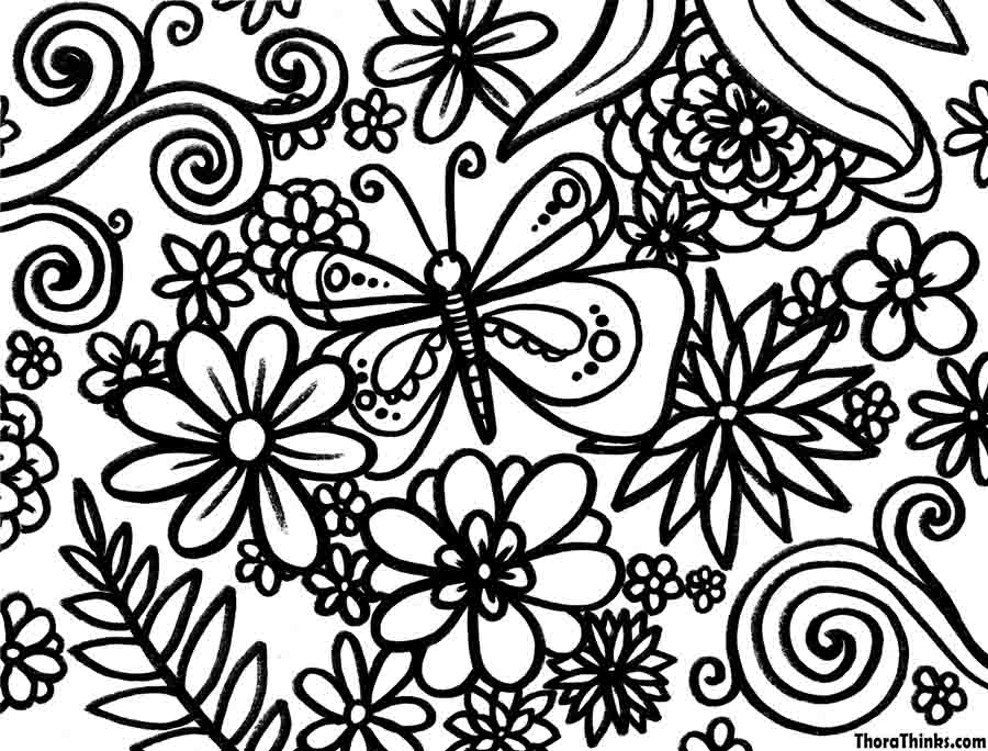 6 Best Images of Printable Happy Spring Flower Pattern ...