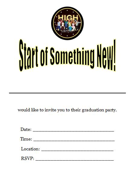 5 Images of High School Graduation Party Invitations Printable Free
