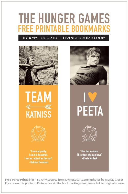 9 Images of Printable Bookmarks Hunger Games