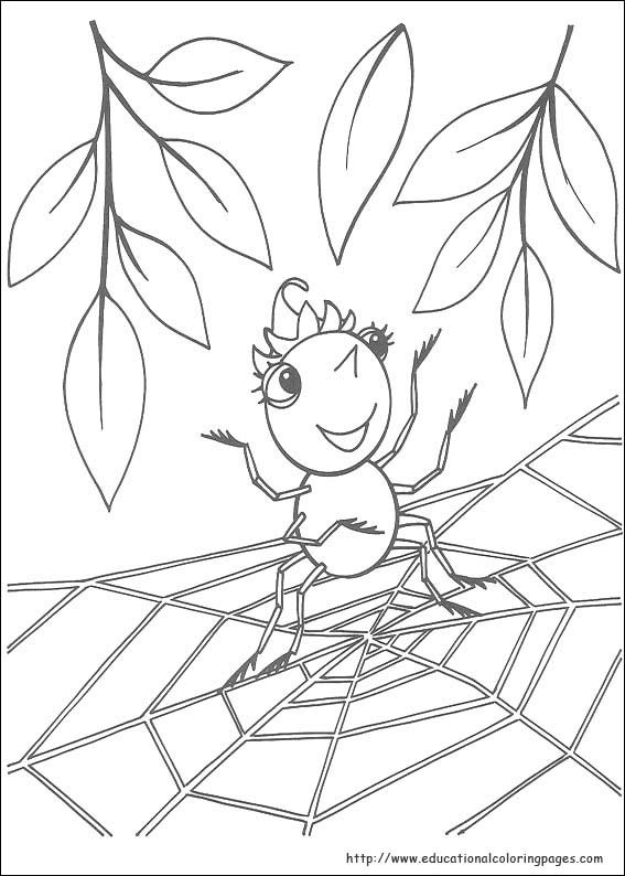 5 Images of Miss Spider Coloring Pages Printable