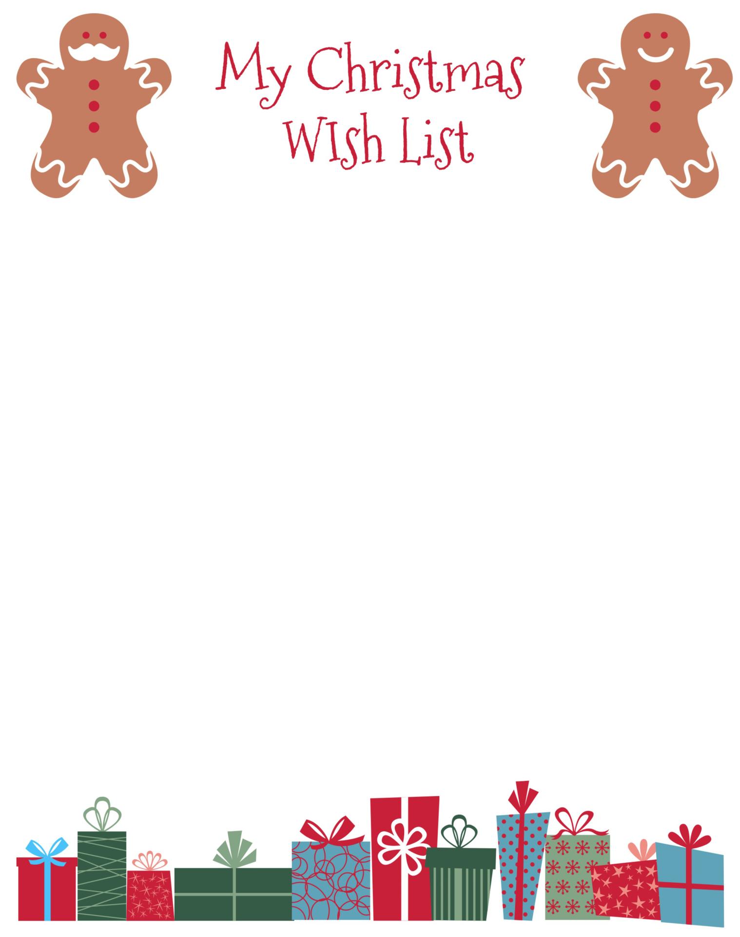 My Christmas Wish List Printable