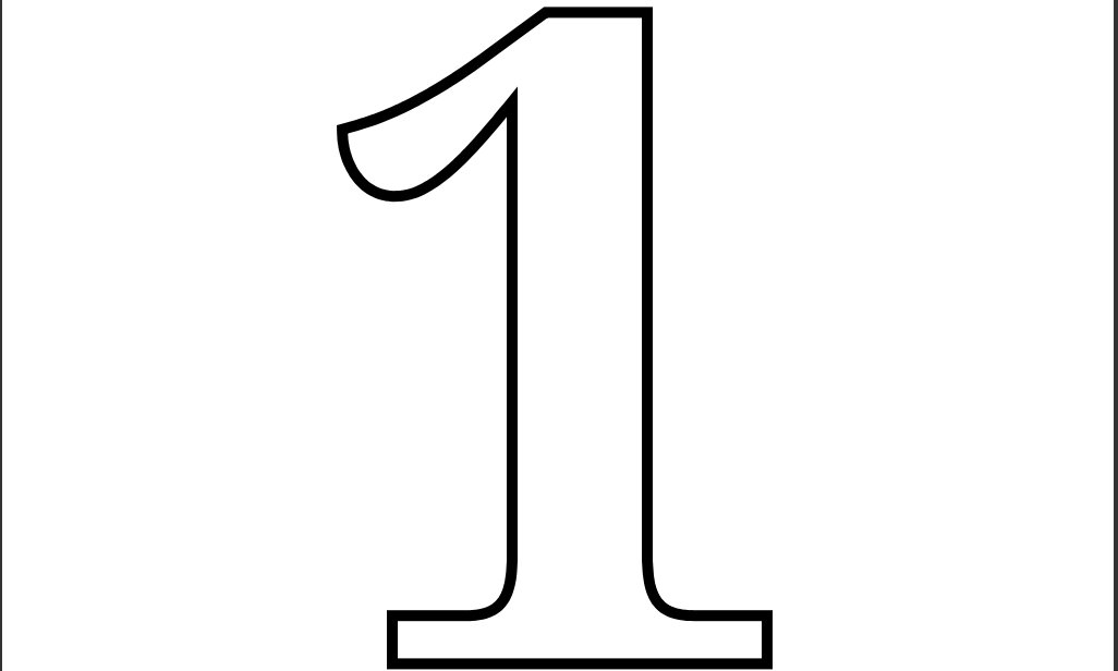 4 Images of Printable Number 1