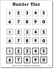 5 Images of Printable Number Tiles