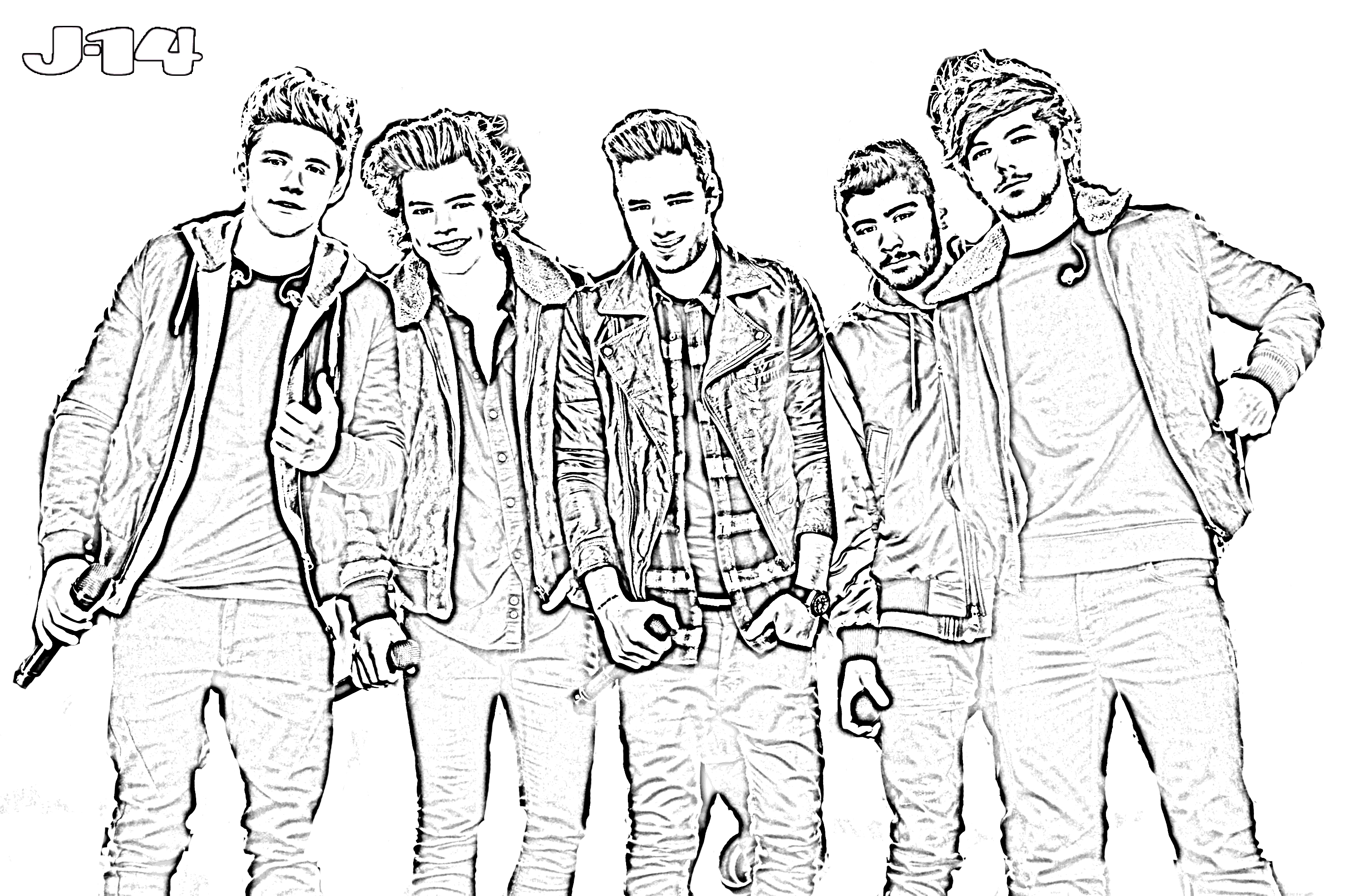 The band one direction free coloring pages for Band coloring pages