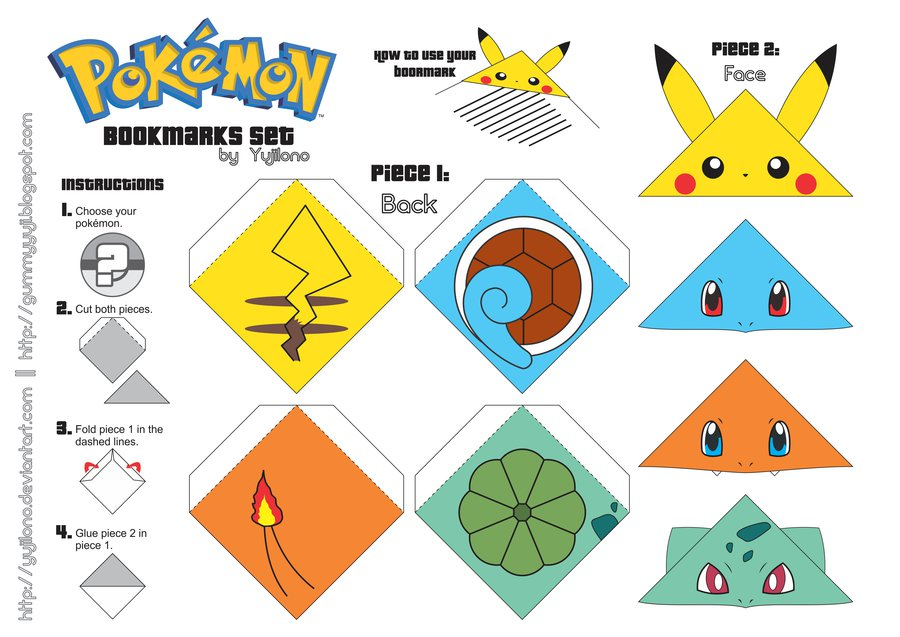 5 Images of Cute Pokemon Bookmarks Printable