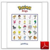8 Images of Printable Pokemon Bingo