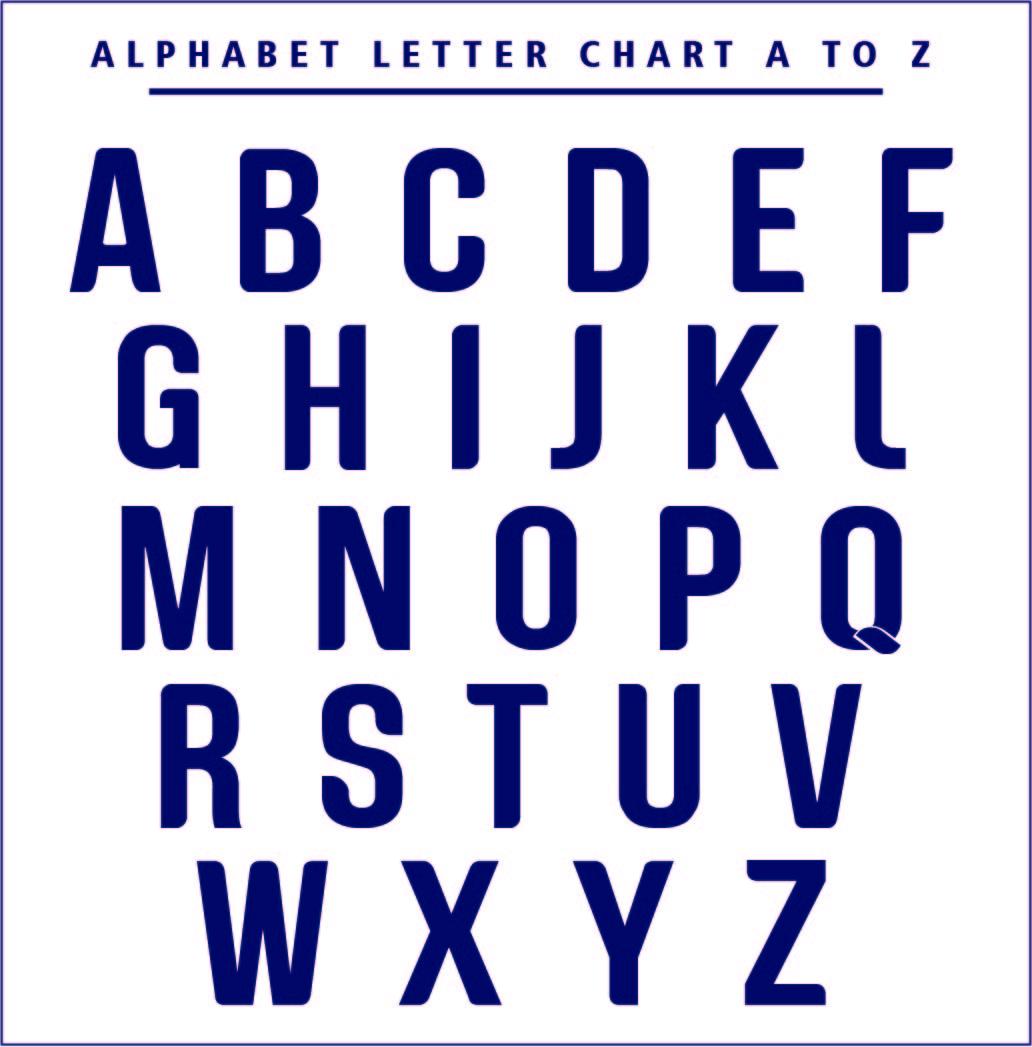 Printable Alphabet Letters Chart