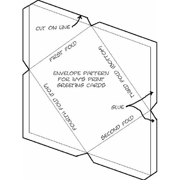 5 best images of free printable envelope patterns printable envelope template quarter fold. Black Bedroom Furniture Sets. Home Design Ideas