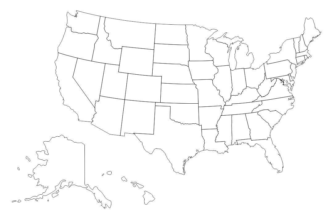 Printable Blank Us Maps United States