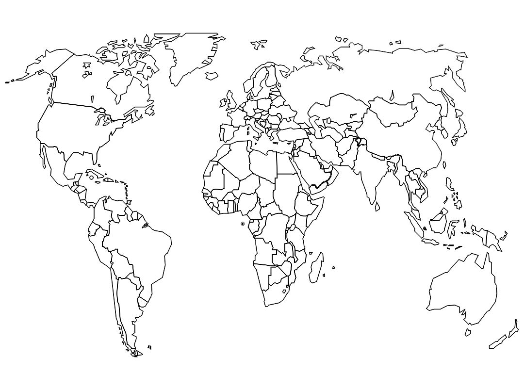 4 Images of Large Blank World Maps Printable