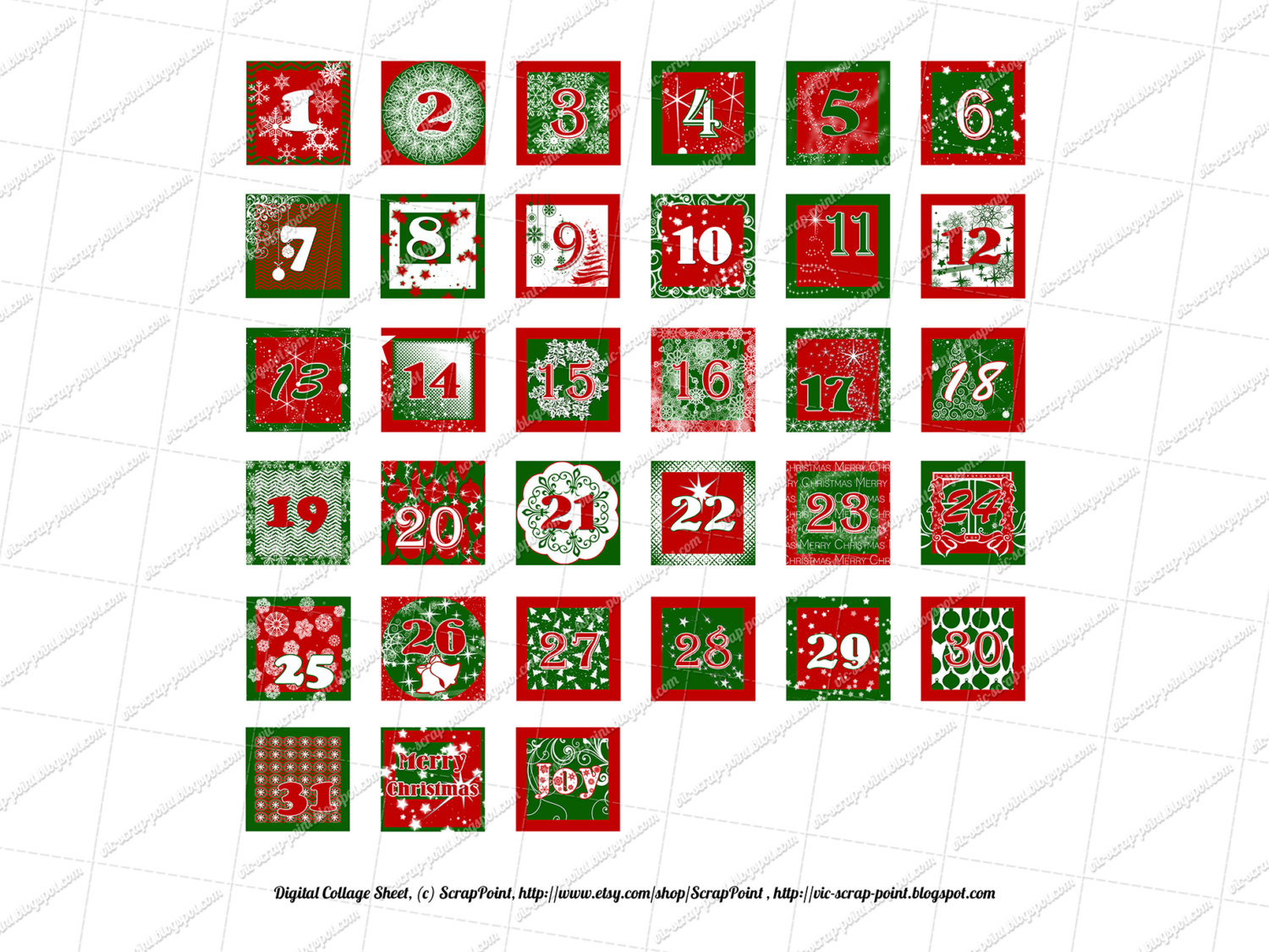 Best Images of Christmas Numbers Printable - Free Printable Christmas ...