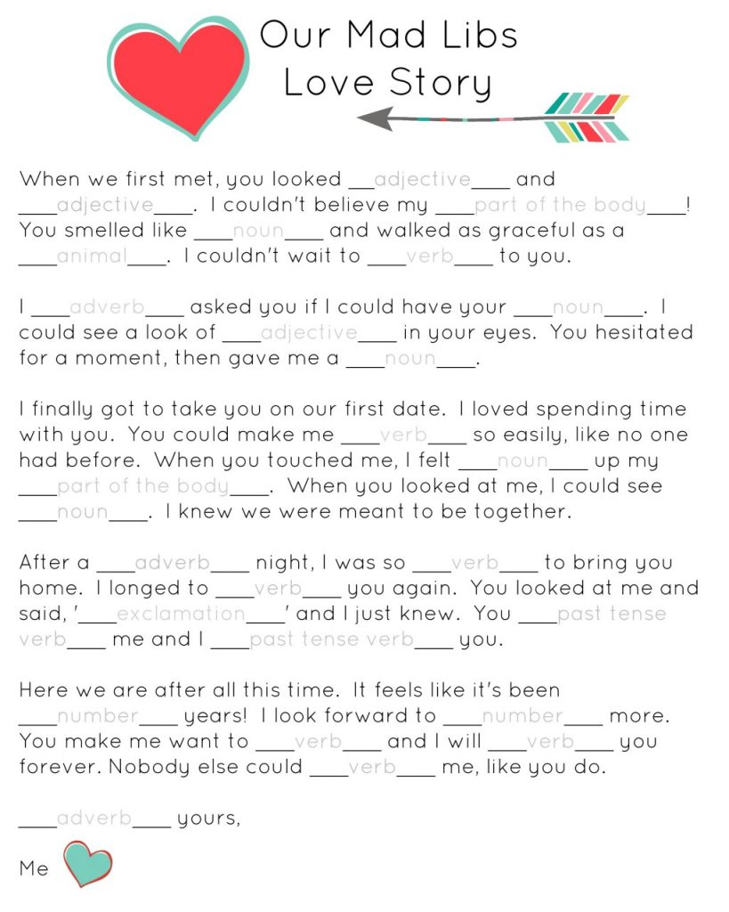 Sassy image in printable blank mad libs