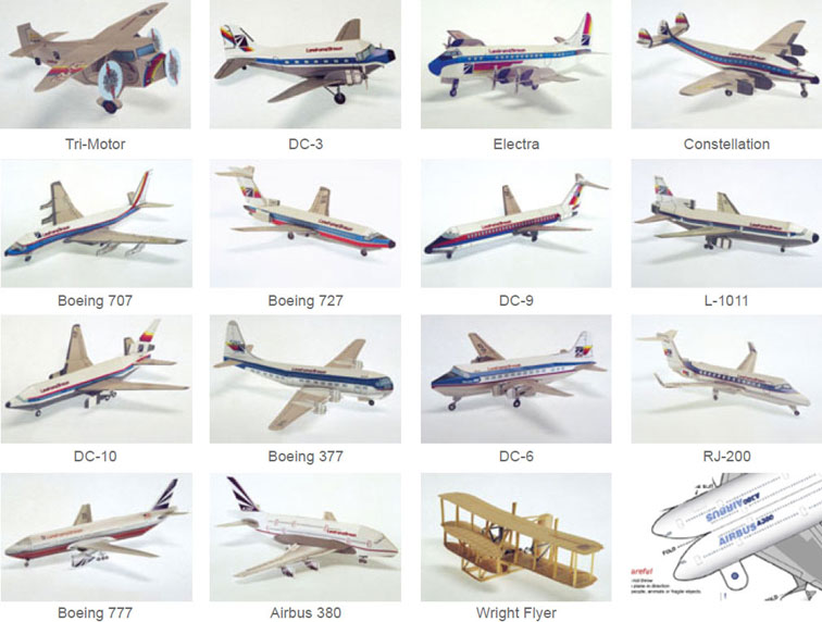 5 Images of Printable Paper Airplane Models