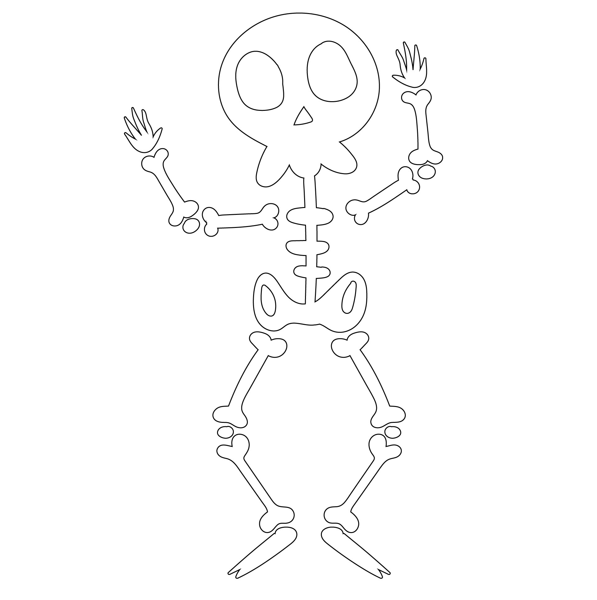 5 Images of Printable Halloween Skeleton Game
