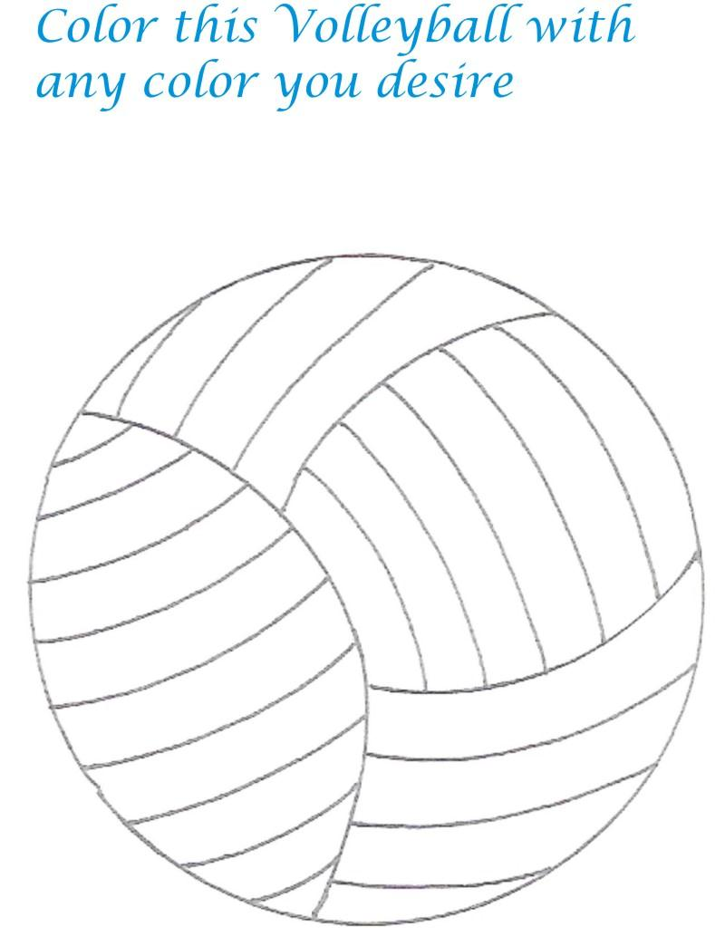 coloring pages for volleyball - 6 best images of volleyball sports printable stencils