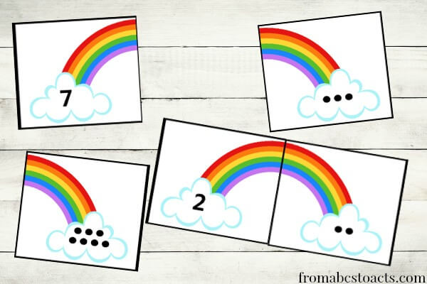 8 Images of Printable Rainbow Number 1