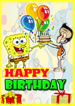 8 Images of Spongebob Funny Printable Birthday Cards
