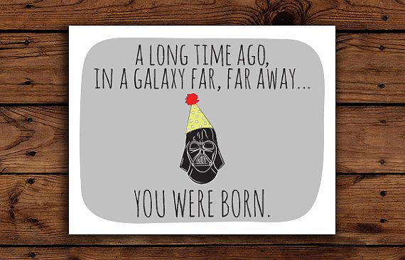 Rare image throughout star wars birthday card printable