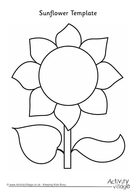 Sunflower Cut Out Template Printable