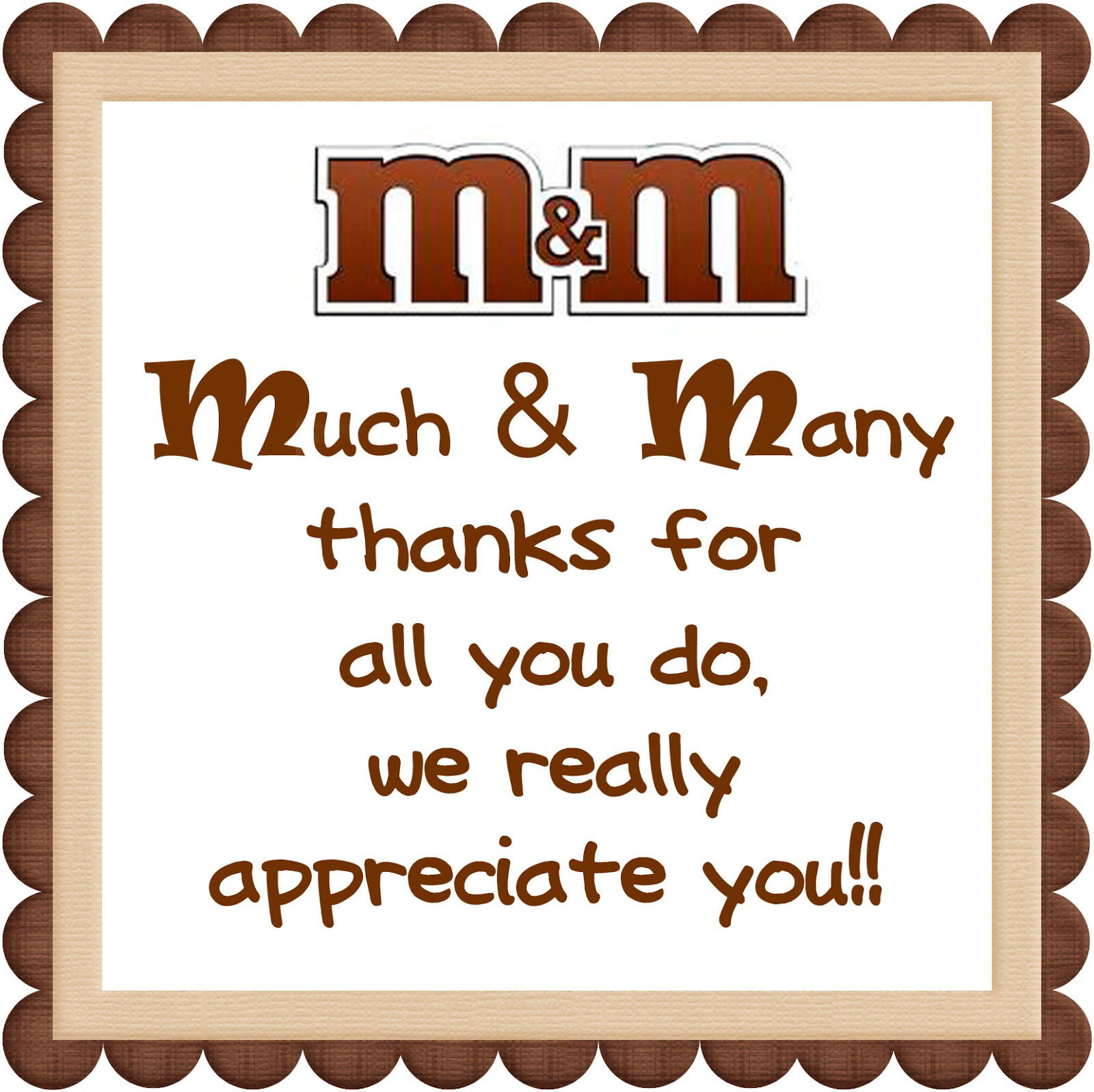 4 Images of Thank You Candy Sayings Printables