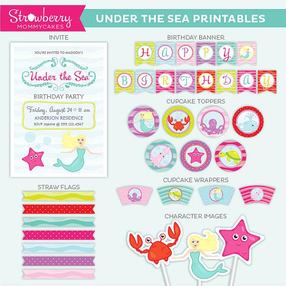 Invitation Little Mermaid for luxury invitations template