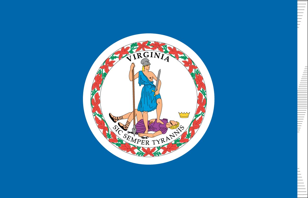 5 Images of Printable Flag Of Virginia
