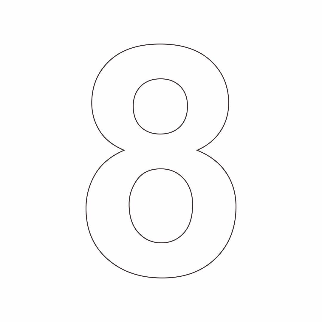 8 Number Stencil Printable