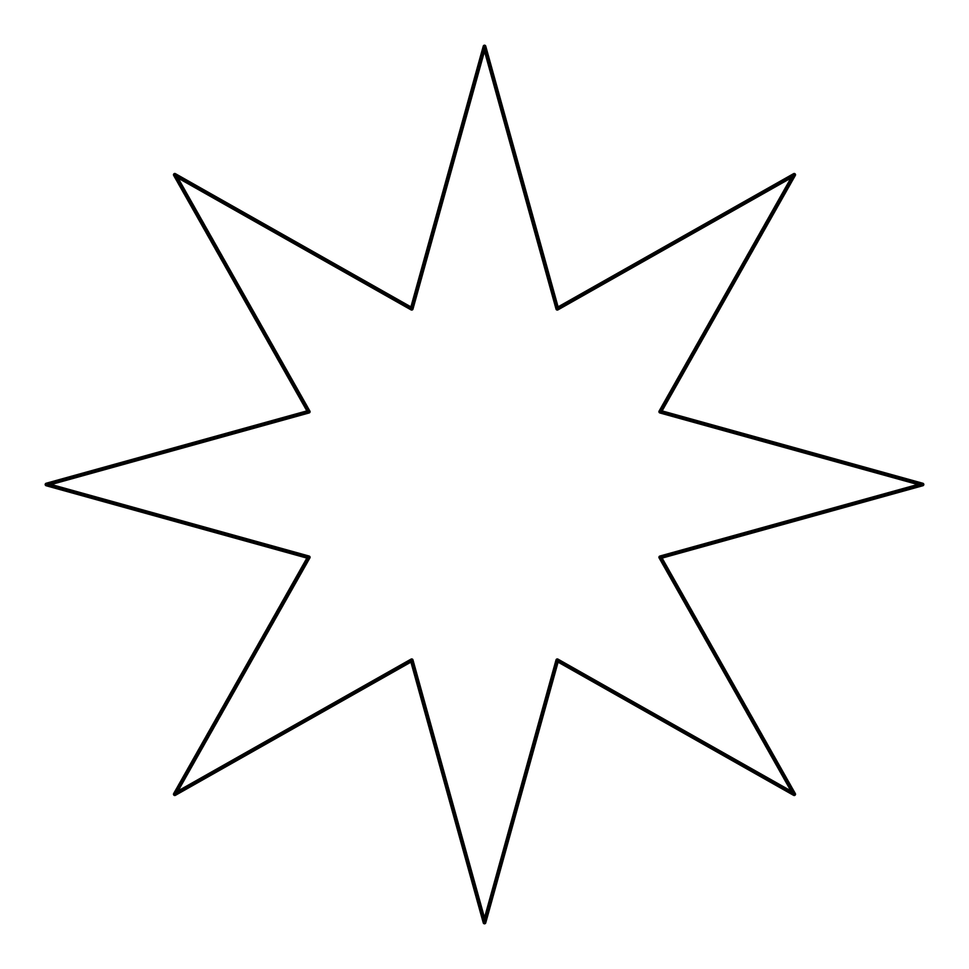 how to cut out a star