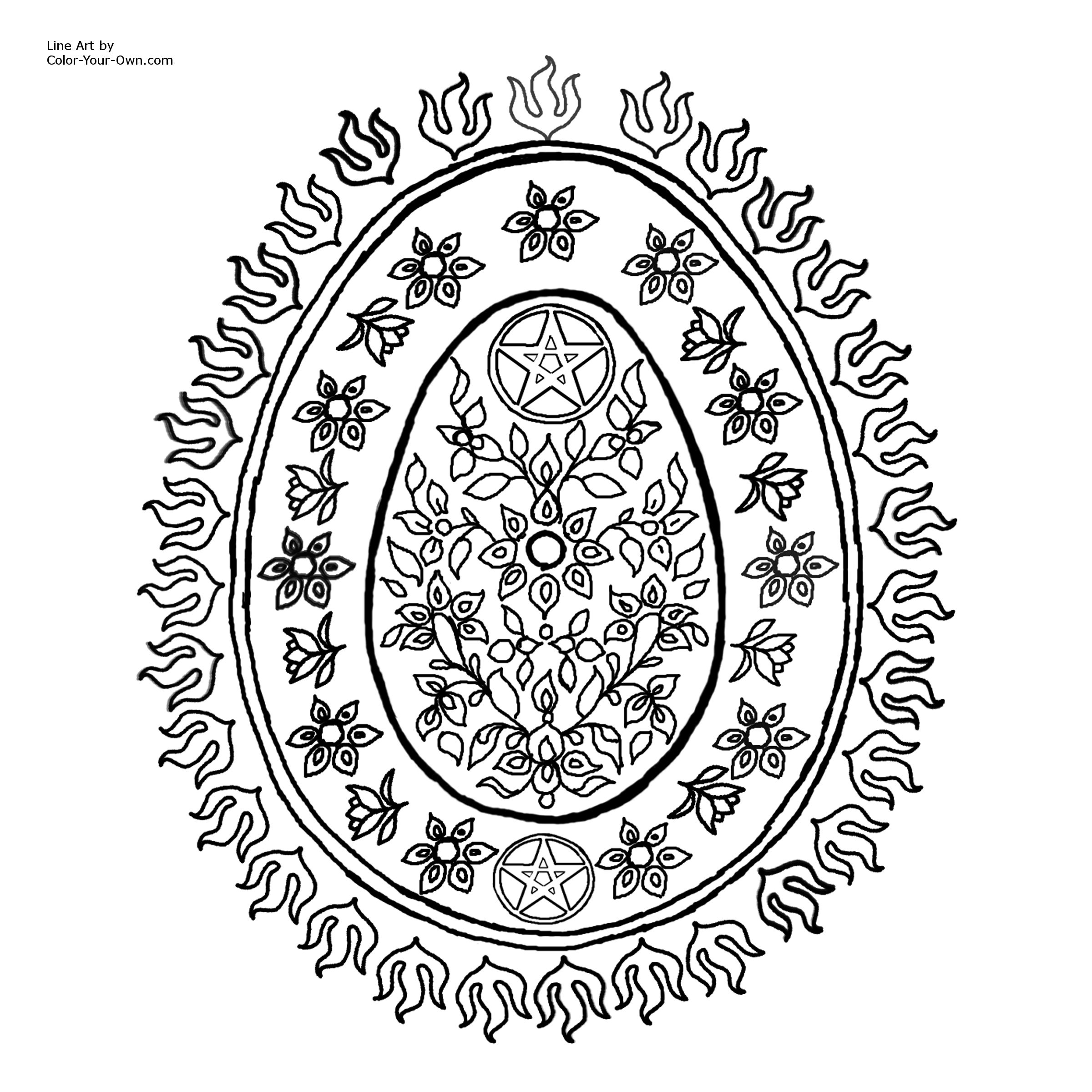 5 Images of Free Printable Pagan Coloring Pages