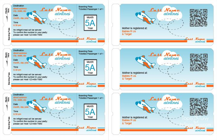 5 Images of Airplane Birthday Party Free Printables