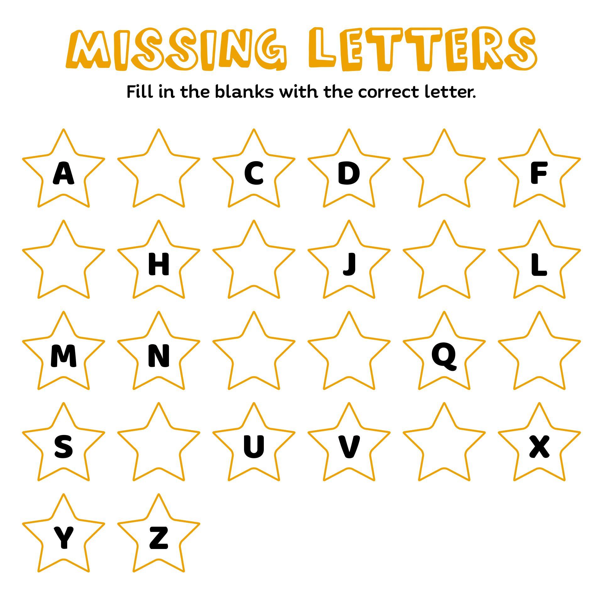 Alphabet Letter Games for Kindergarten
