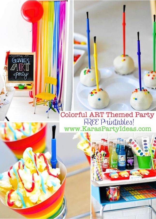 4 Images of Art Party Free Printables
