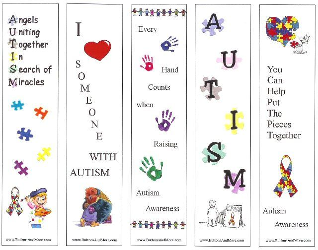 Autism Awareness Printable Bookmarks