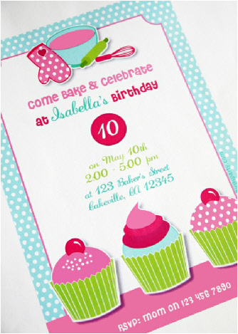 5 Images of Cupcakes Party Invitations Printables