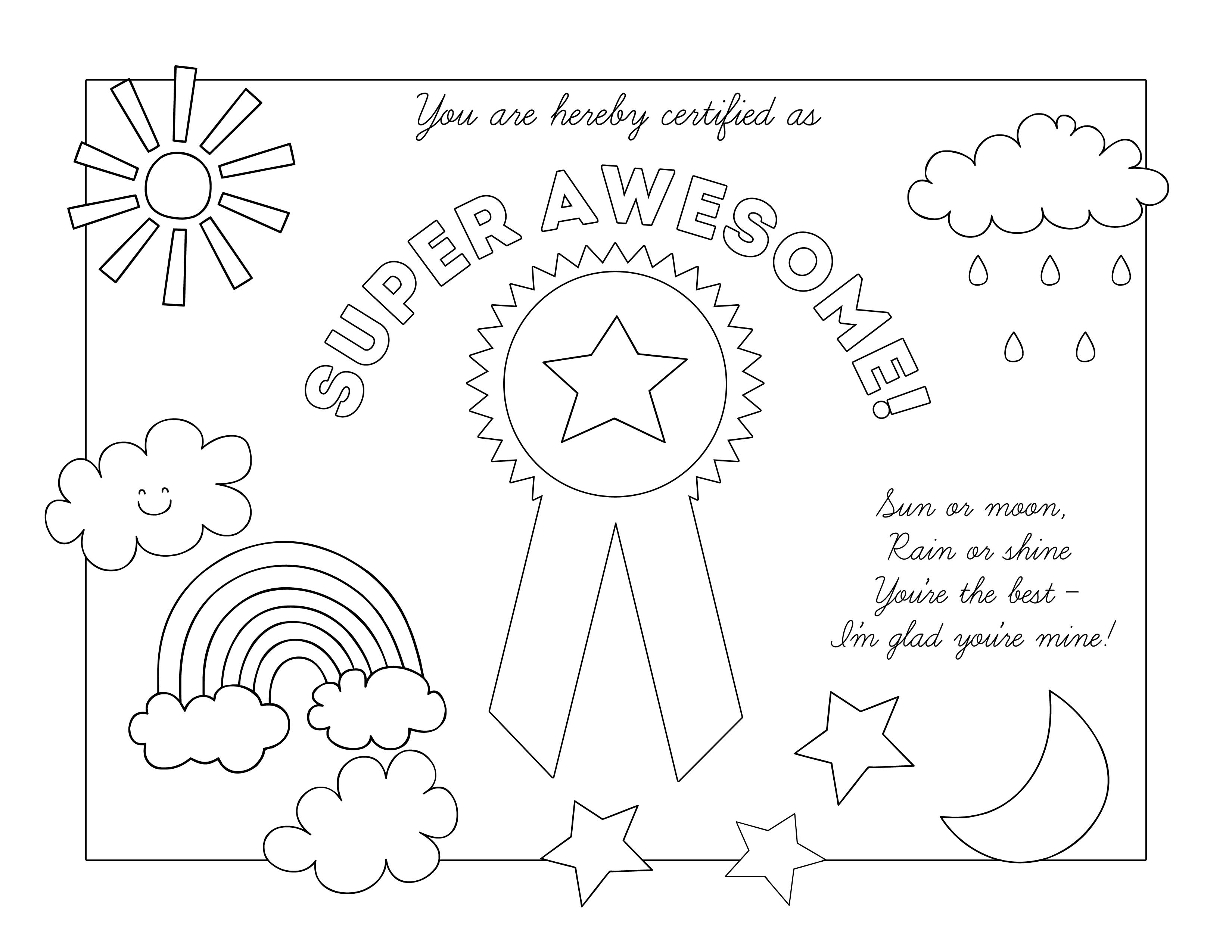 8 Images of Black White Mother's Day Certificate Printable