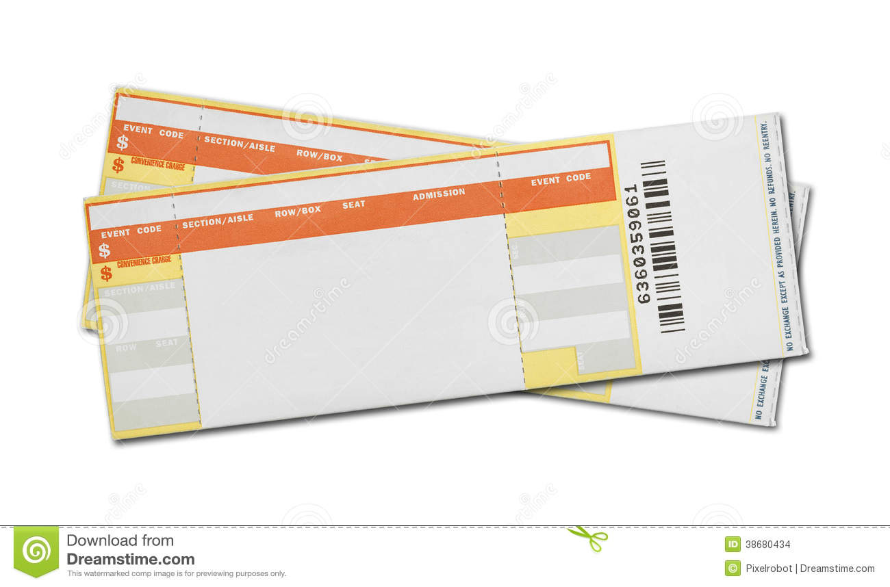 blank printable tickets