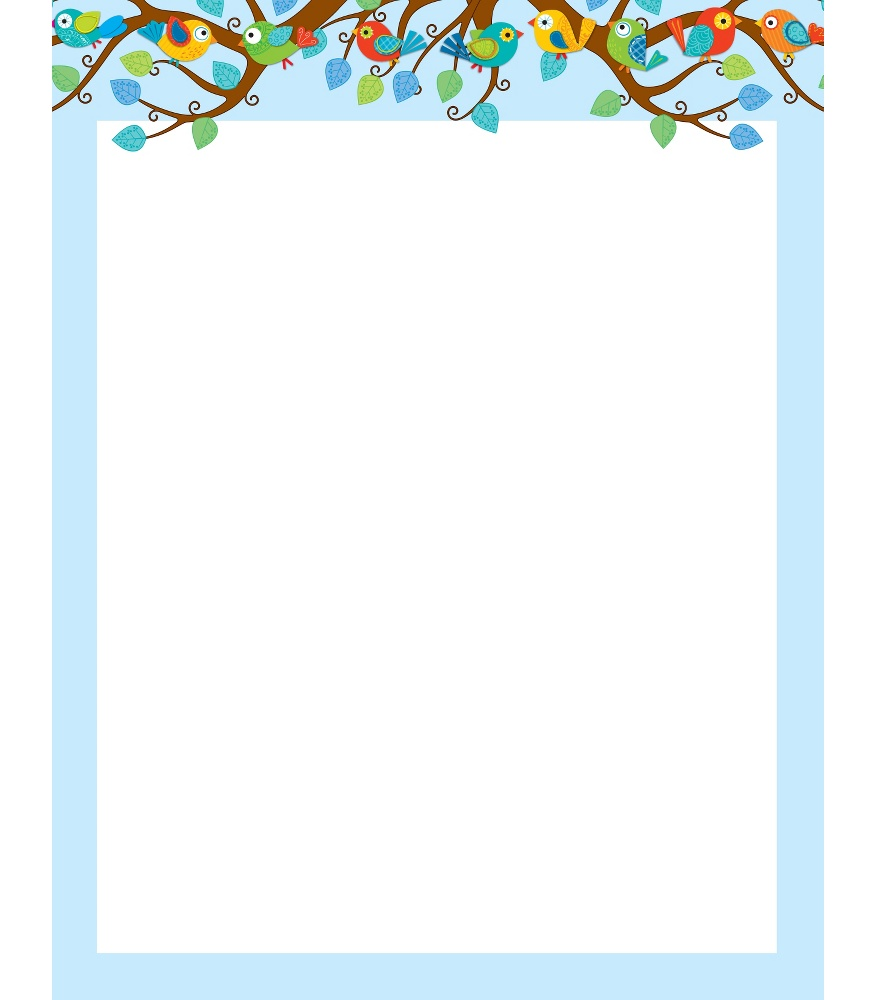 6 Images of Bird Border Paper Printable