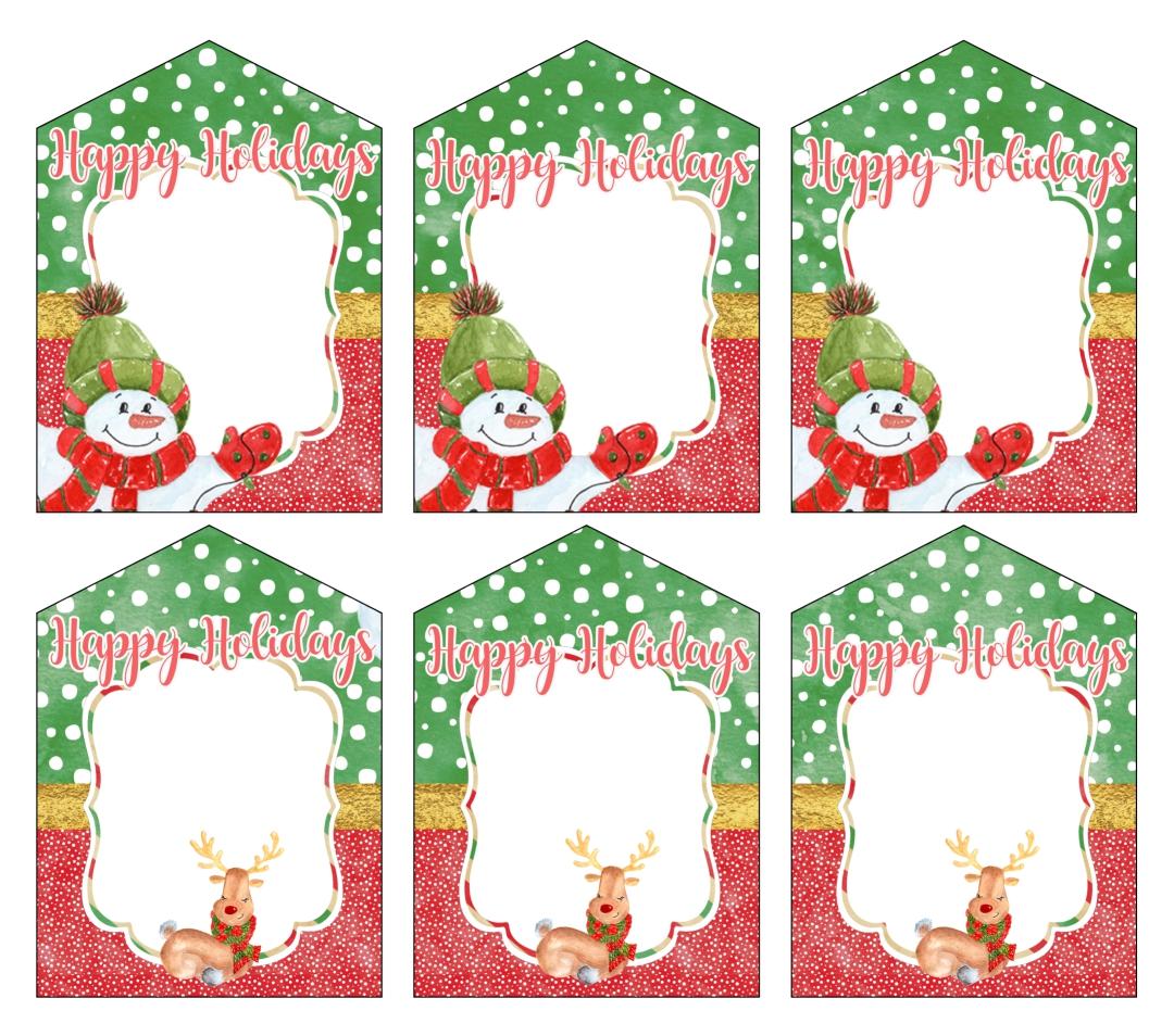 Colorful Printable Christmas Gift Tags