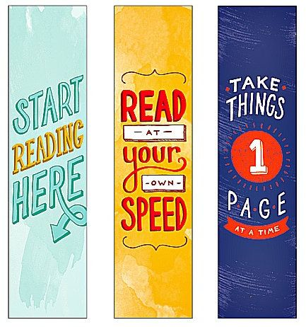 Cool Printable Bookmarks for Books