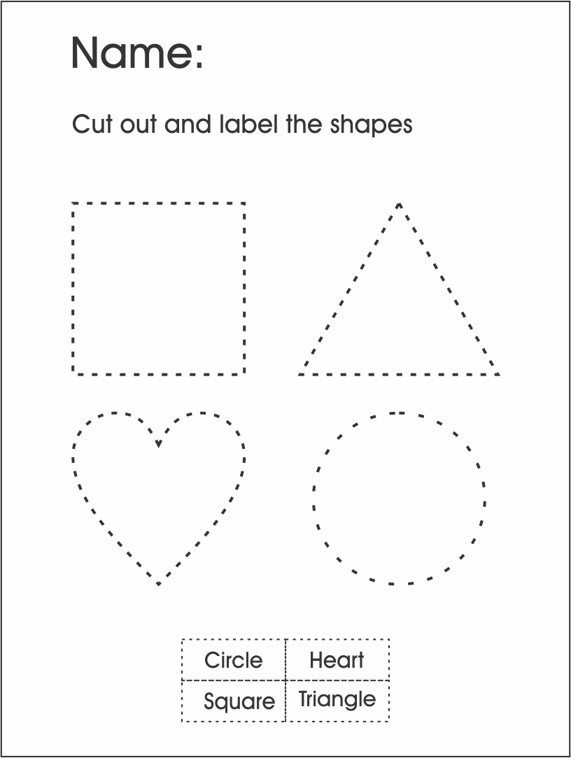 Number Names Worksheets shape worksheets for preschoolers : Kindergarten Shapes Worksheets - pre kindergarten shapes ...