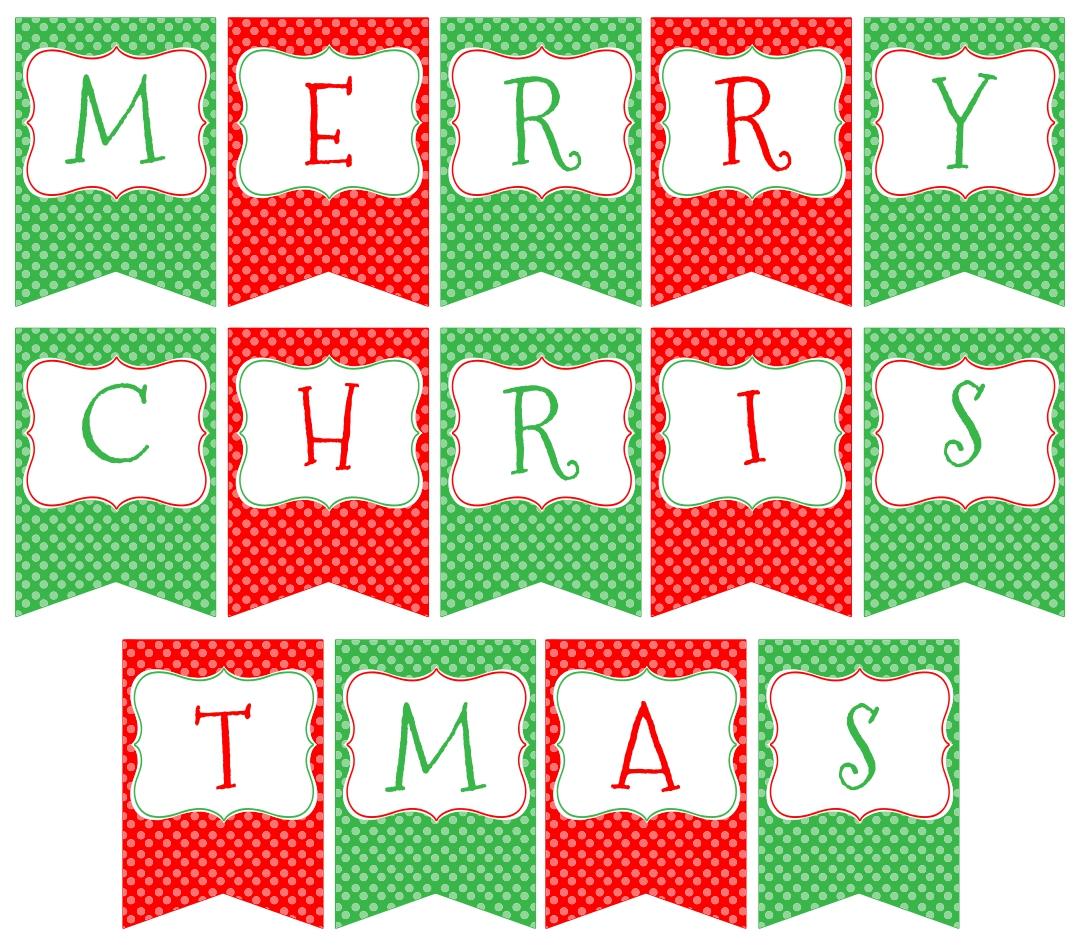 DIY Christmas Banner Printable Free
